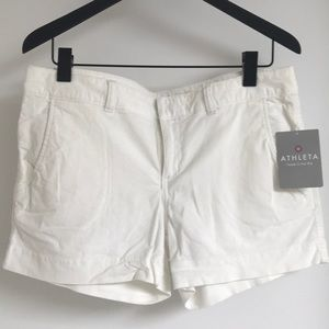 NWT Athleta white shorts.